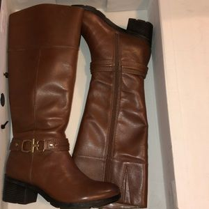 👢NWT 6 Bandolino Tall Cognac Boots